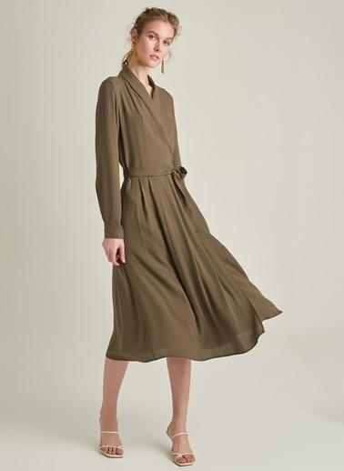 Ng Style Bağlamalı Anvelop Elbise Haki